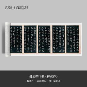 赵孟頫行书《梅花诗》毛笔练字帖原大高清复制临摹
