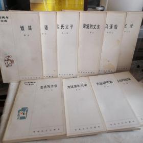 【10本合售】 百花青年小文库:沉沦、亲爱的丈夫、包氏父子、私语、都市的烦恼、为祖国而歌、为奴隶的母亲、老舍与北京、倾跌、乌篷船