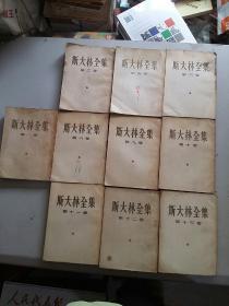 斯大林全集(1-2、4、6、8-13)10本合售