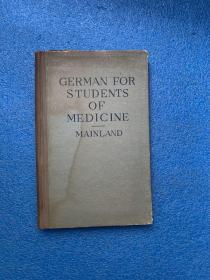 (民国版)German for students of medicine and science( 布面精装)