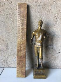 鲁班铜像、铜尺一套! 重5.3斤