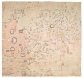 0523古地图1841 宁波府六邑及海岛洋图 清道光21年以前。纸本大小59.1*55.3厘米。宣纸艺术微喷复制