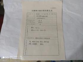 1989年. 台胞回乡探亲情况报告表.