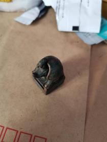 道教铜印,民国 龟鹤合一 紫铜印章。法力无穷。
