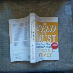 信任的速度SPEED OF TRUST  外文版  实物拍图 有划线字迹