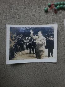 毛主席接见群众原版相片(16.5宽12.5厘米)可能是拍摄于武汉1958年左右