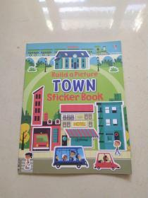 Usborne Build a Picture: Town Sticker Book