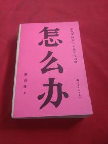 怎么办:中文字体设计和跨文化沟通【潘剑锋签名】一版一印