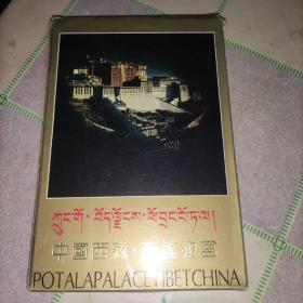 中国西藏 布达拉宫(建筑艺术 文物珍藏)明信片大小