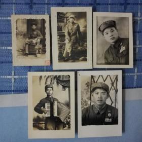 五十年代华野解放军老照片五张