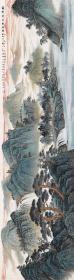 山水画,大尺寸,吴广  锦绣神州万象生。纸本大小65.4*246厘米。宣纸艺术微喷复制。