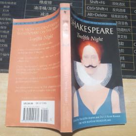 英文原版书Twelfth Night:Or: What You Will莎士比亚:第十二夜 英文原版文学 英文版