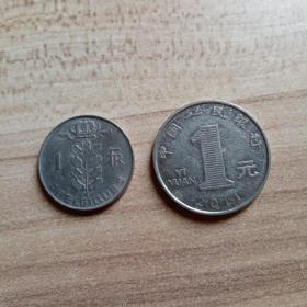 外国钱币 比利时1978年硬币(面值1)(YB5)