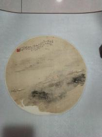 老扇面山水画一幅