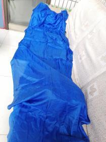 民国丝绸织品,蓝色薄绸缎,200/80cm。可做衣物,古籍函套