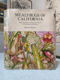 1967年,英文原版,布面精装带书衣,加州大学出版社,大量黑白彩色插图,mealybugs in California,加州虱子