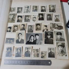 50年代军人老照片   寸照 如图  32张合售        4号册