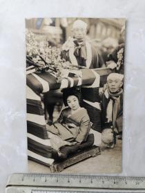 民国时期日本艺妓明信片格式原版老照片