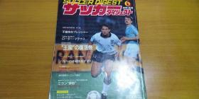 【日文原版】日本原版足球杂志(1991年6月号,含91巴西国家队对阿根廷国家队友谊赛,欧洲冠军杯AC米兰对马赛,比利时希福个人专访,欧美联赛等专题)