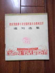 《欢庆党员第十次全国代表大会胜利召开》速写选集