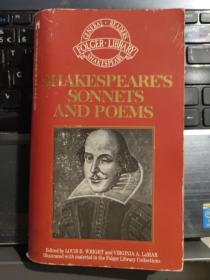 Shakespeare's Sonnets and Poems [莎士比亚十四行诗和诗歌 ] 英文原版 插图本,  择行解读.
