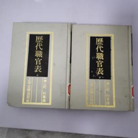 历代职官表(上下)