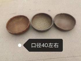 民俗老物件,竹编小菠萝,纯手工精美编制,口径四十左右