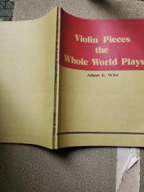 钢琴曲谱类:Violin pieces the whole worls plays小提琴名曲64首 老一辈词作家魏开泰钤印藏书