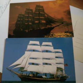 帆船明信片4枚合售