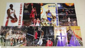 篮球明星海报  nba球星 乔丹 詹姆斯 艾佛森 罗斯 霍华德 韦德 保罗 加内特 等等 价格不等 全部为国外杂志自带篮球海报
