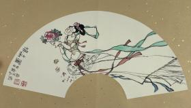 史永哲 尺寸 54/19 镜片 (1942.4—)笔名史甄,河南人。擅长漆画、中国画。 I961年九月毕业于西安美术学院附中,分配到西安特种工艺美术总厂,直到2001年退休是唯一从美院毕业分配到工艺系统而坚持到底者。迄今从艺年龄47年工艺美术艺龄至今44年,在厂工作40年。