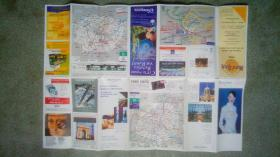 旧地图-巴黎地图繁体法文版(1999年)4开85品