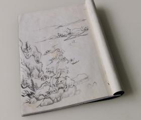谢春星(长庚)山水课稿原件二十二页    保真保到代   封面为重装