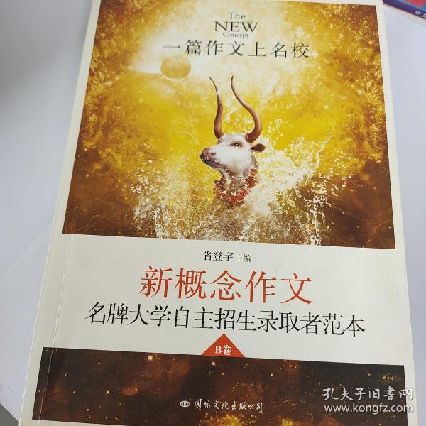 飞扬·一篇作文上名校:新概念作文名牌大学自主招生获奖者范本B卷