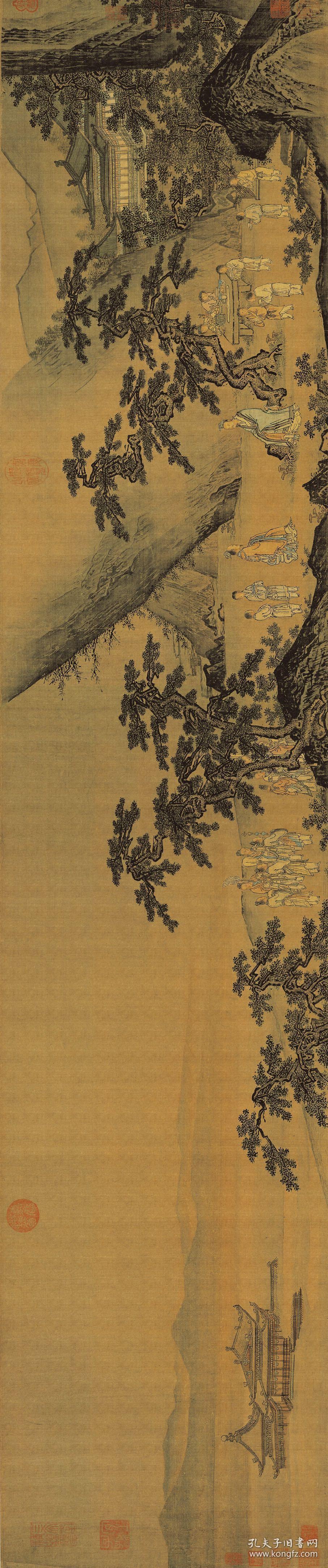 石锐 轩辕问道图卷。纸本大小32*152.78厘米。宣纸艺术微喷复制。130元包邮