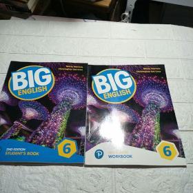 培生新版 BIG ENGLISH6:2ND EDITION【WORKBOOK+STUDENT,S BOOK】2册合售(平装 16开 详情看图)