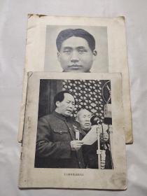 毛泽东画册大本小本(缺外皮)