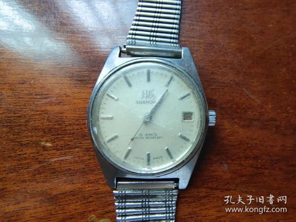 7080年代上海牌(7221)带日历机械手表