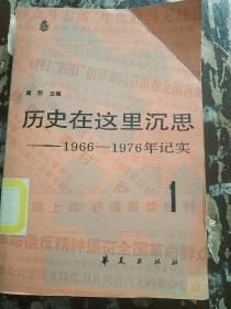 历史在这里深思(1)--1966-1976年纪实