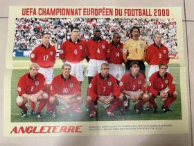 足球海报 2000欧洲杯 英格兰/希勒