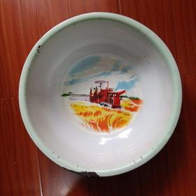 大众牌搪瓷盆(沈阳市搪瓷厂)实物拍照,品相自定1969年制