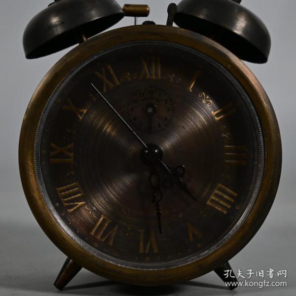 回流双闹铃铜西洋表