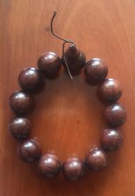 纯天然小叶紫檀手串 (13颗珠,有淡香)