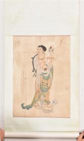 约八十年代人物仕女壁画一幅,手绘的,尺寸约60*43,低价让了