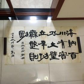 俞建华,字驾沧:书法一幅8.5平尺