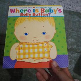 Where Is Baby's Belly Button? A Lift-the-Flap Book  实物拍图  现货