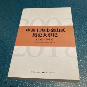 中共上海市金山区历史大事记(2003-2018)