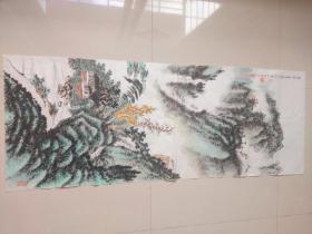 黄叶村款纯手绘山水国画