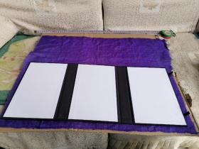 民国丝绸织品,井蓝色绸布,60/50cm。可做衣物修复,古籍函套