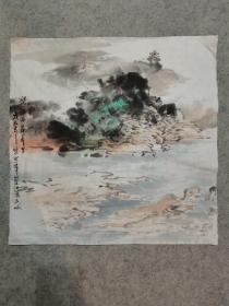 四川名家国画山水小品 原稿真迹 画心软片